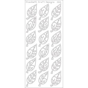 Elegant Leaves Peel-Off Stickers – Gold