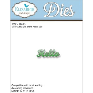 Elizabeth Craft Metal Die – Hello
