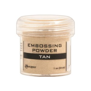 Embossing Powder .56oz Jar – Tan
