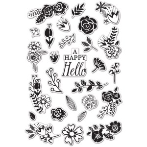 Hero Arts Clear Stamps 4″X6″ Sheet – Flower Garden