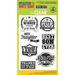 Hero Arts Clear Stamps 4″X6″ Sheet – OWH-You're A Winner