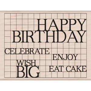 Hero Arts Mounted Rubber Stamps 4.25″X3.25″ – Happy Birthday Grid