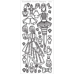Jackie's Dolls 2 Peel-Off Stickers – Black