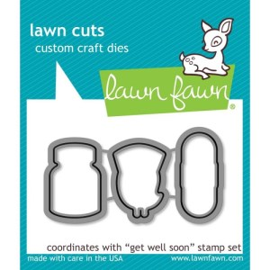 Lawn Cuts Custom Craft Die – Get Well Soon