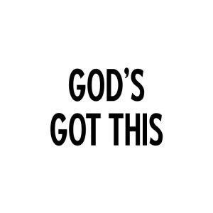 Riley & Company Funny Bones Cling Mounted Stamp 2″X1.25″ – God's Got This