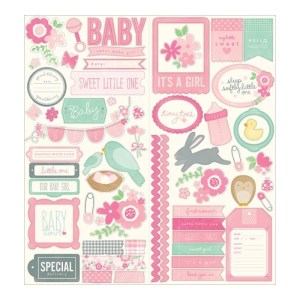 Special Delivery Girl Cardstock Stickers 6″X12″ 2/Sheets – Phrase & Icon