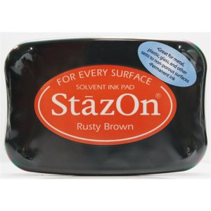 StazOn Solvent Ink Pad – Rusty Brown