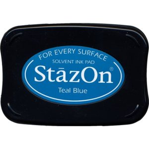 StazOn Solvent Ink Pad – Teal Blue