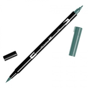 Tombow Dual Brush Marker – 228 Gray Green