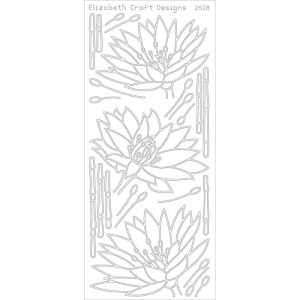 Waterlilies Peel-Off Stickers – Black