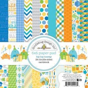 Doodlebug 6×6 paper pad – hip hip hooray