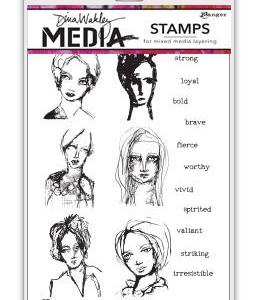 Dina Wakley Media Stamps All the Gals