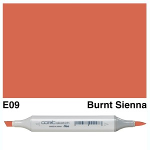 Copic Sketch E09-Burnt Sienna