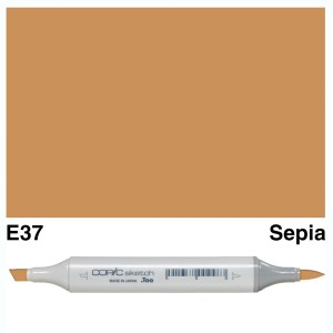 Copic Marker Sketch E37 Sepia