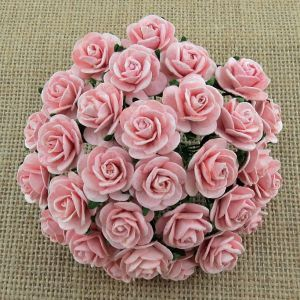 Wild Orchid Crafts Pale Pink Mulberry Paper Open Roses