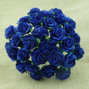 Wild Orchid Crafts Royal Blue Mulberry Paper Open Roses