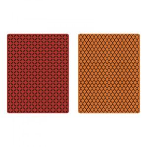Sizzix Texture Fades Embossing Folders 2PK – Courtyard & Trellis Set