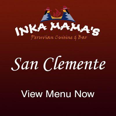 Inka Mamas San Clemente Menu