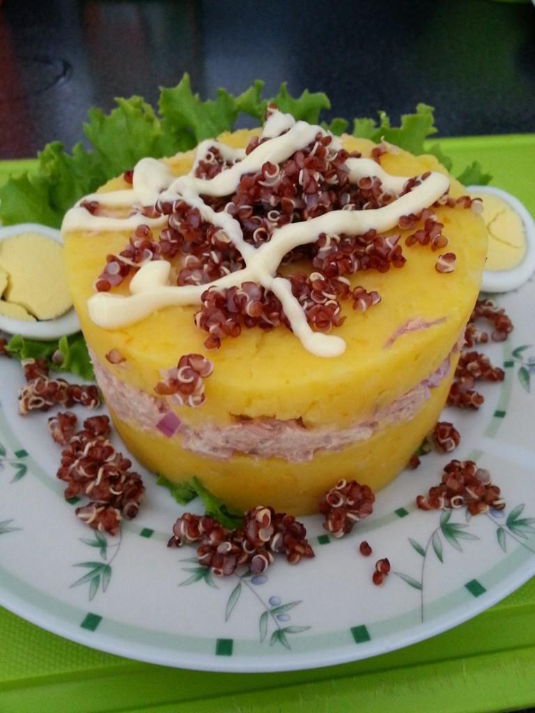 Un plato de verano rico y nutritivo.