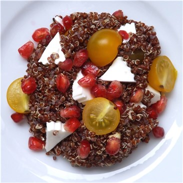 Quinoa Salad and tomatoes