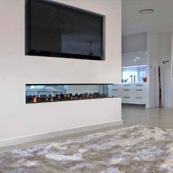 modern-fireplace-design-see-through-with-white-painted-drywall