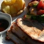 Glazed Boneless Pork Rib End