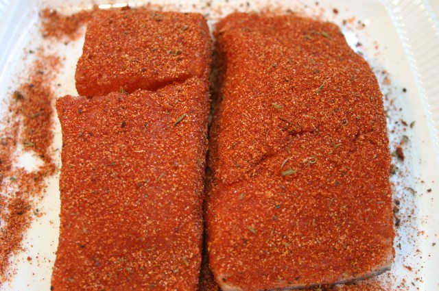 Blackened Rubbed Salmon