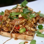 Pad Thai Chicken...And Waffles: Pad Thai Chicken & Waffles