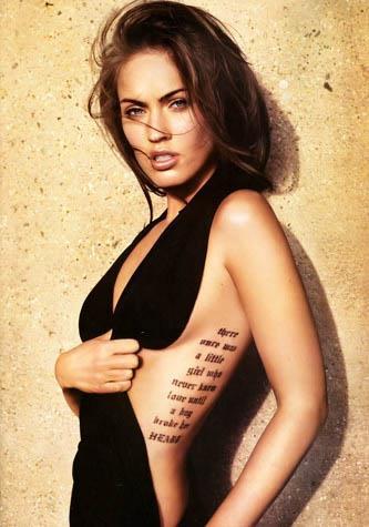 Celebrity Tattoo Phrases