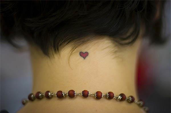 Heart-shaped tattoo from inkarttattoos.com