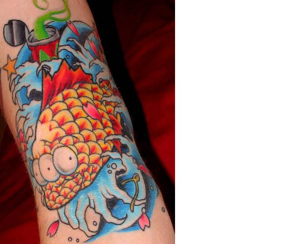 blinky koi tattoo Celebrate 20 Years of The Simpsons with 20 Tattoos