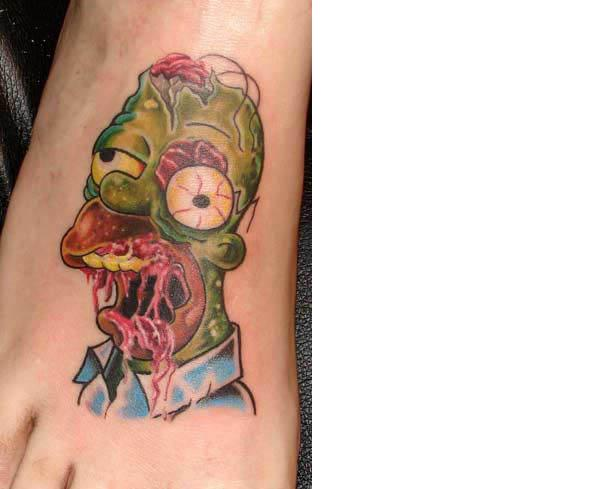 zombie homer tattoo Celebrate 20 Years of The Simpsons with 20 Tattoos