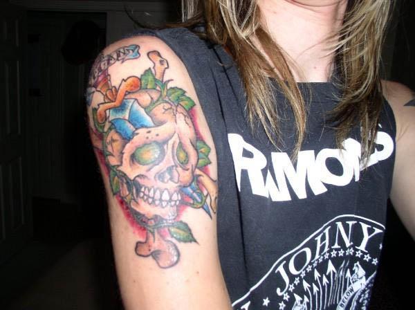 Vegan Skull and Dagger Tattoo Vegan Tattoos Are Hardcore