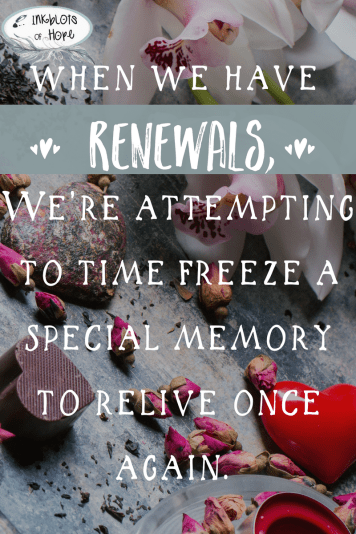 Remembering the past by celebrating your memories.