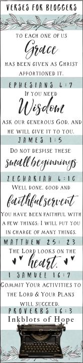 Bible Verses for Bloggers / Faith / Christian Blogger / Wisdom / Blogging / Faith / God / Writing / Christian Writers
