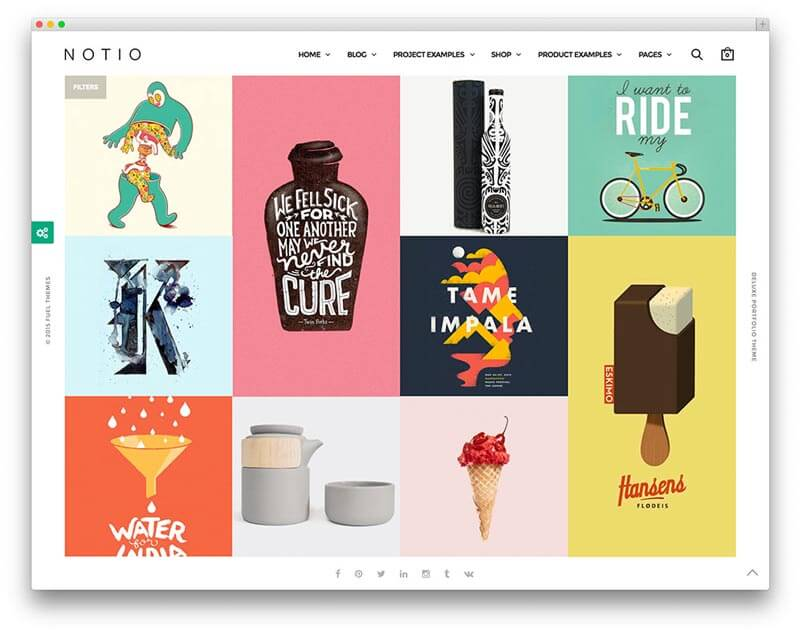 Wordpress Portfolio Website Theme