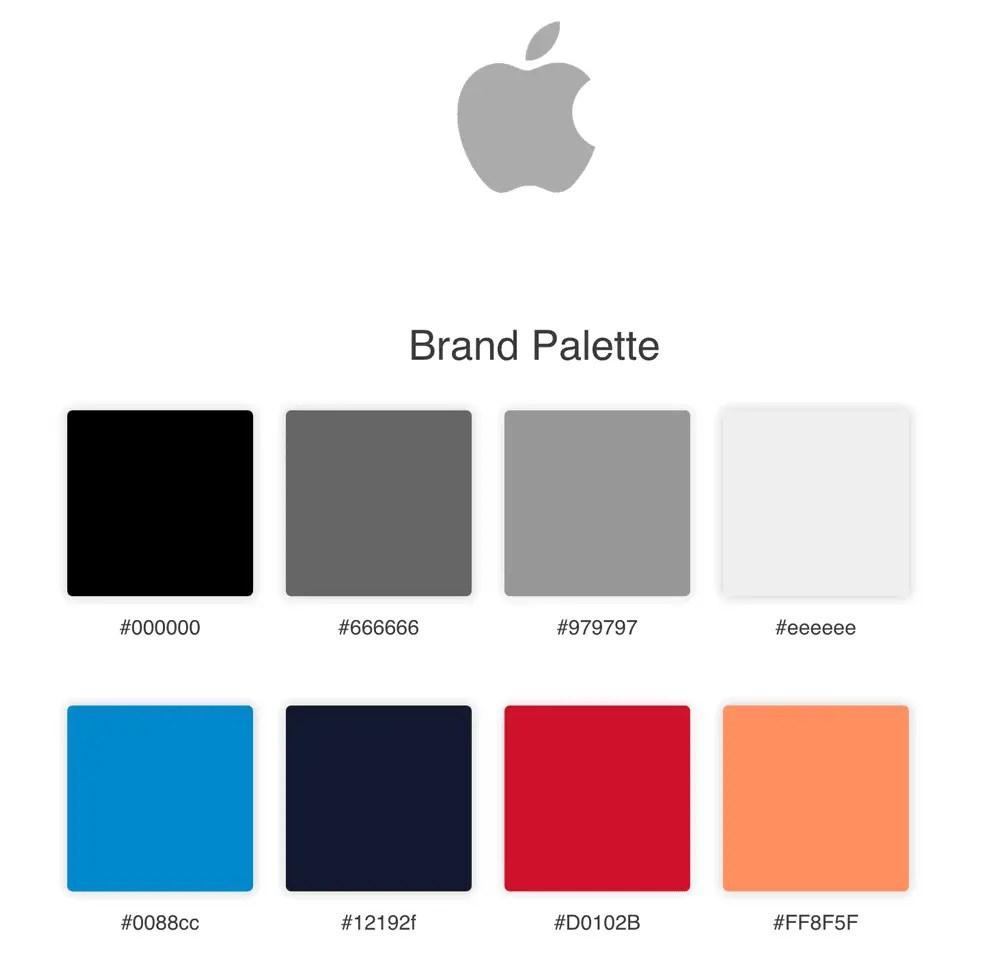Apple Brand Colours