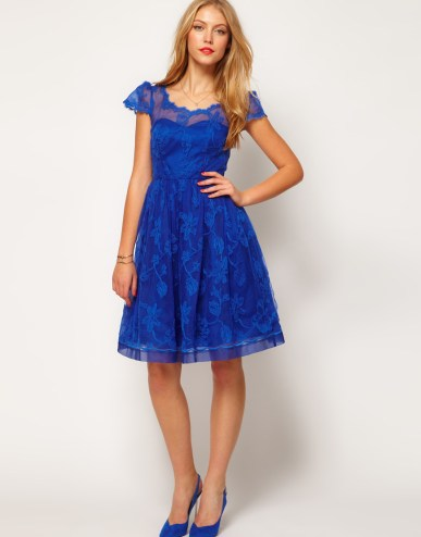 amazing-blue-floral-print-dress-for-girls