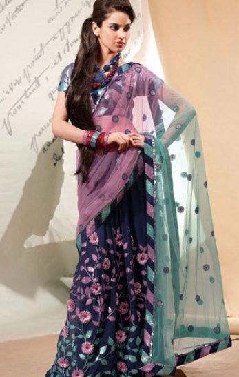 ladies-sangeet-saree-for-girls