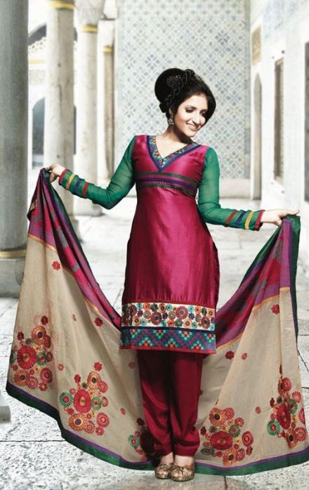 red-and-green-punjabi-salwar-kameez-for-girls-2013