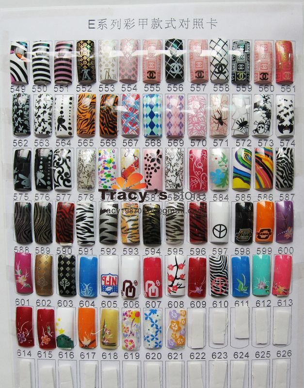 Pre Designed Nail Tips 7 Inkcloth