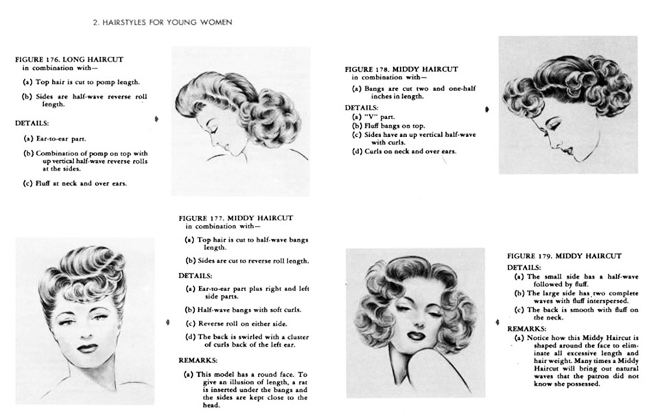 1940s Hairstyles Photo Inkcloth
