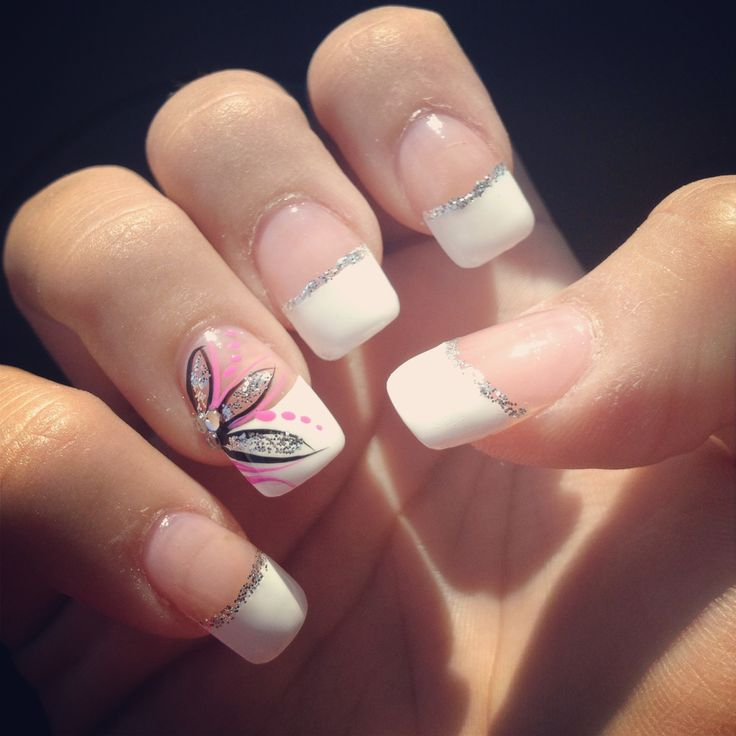 French Tip Nail Art Ideas 9 - Inkcloth