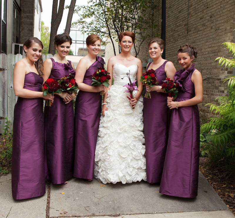 Bridesmaid Dresses Different Styles Same
