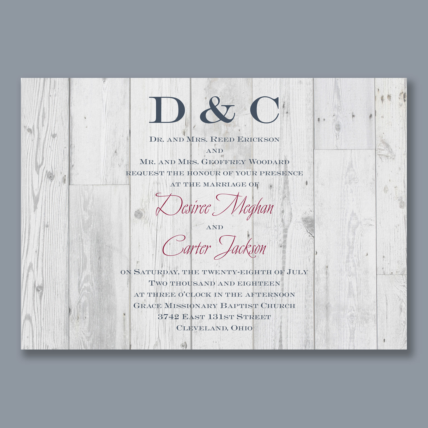 Wedding invitations inkcorporated designs sun bleached monicamarmolfo Image collections