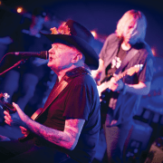 Johnny/Paul Nelson (background) playing Mystic Blues Festival 2014