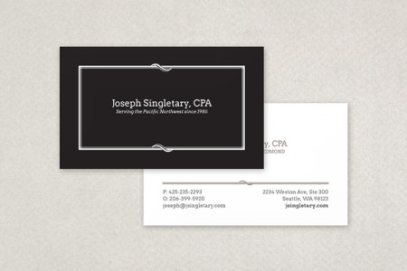 Classic Black Business Card Template   Inkd Classic Black Business Card Template