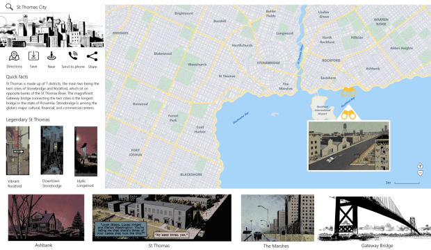 Map of city from Gray Cells comic
