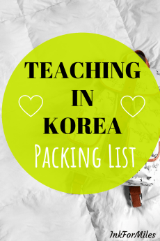 packing checklist for those teaching in korea