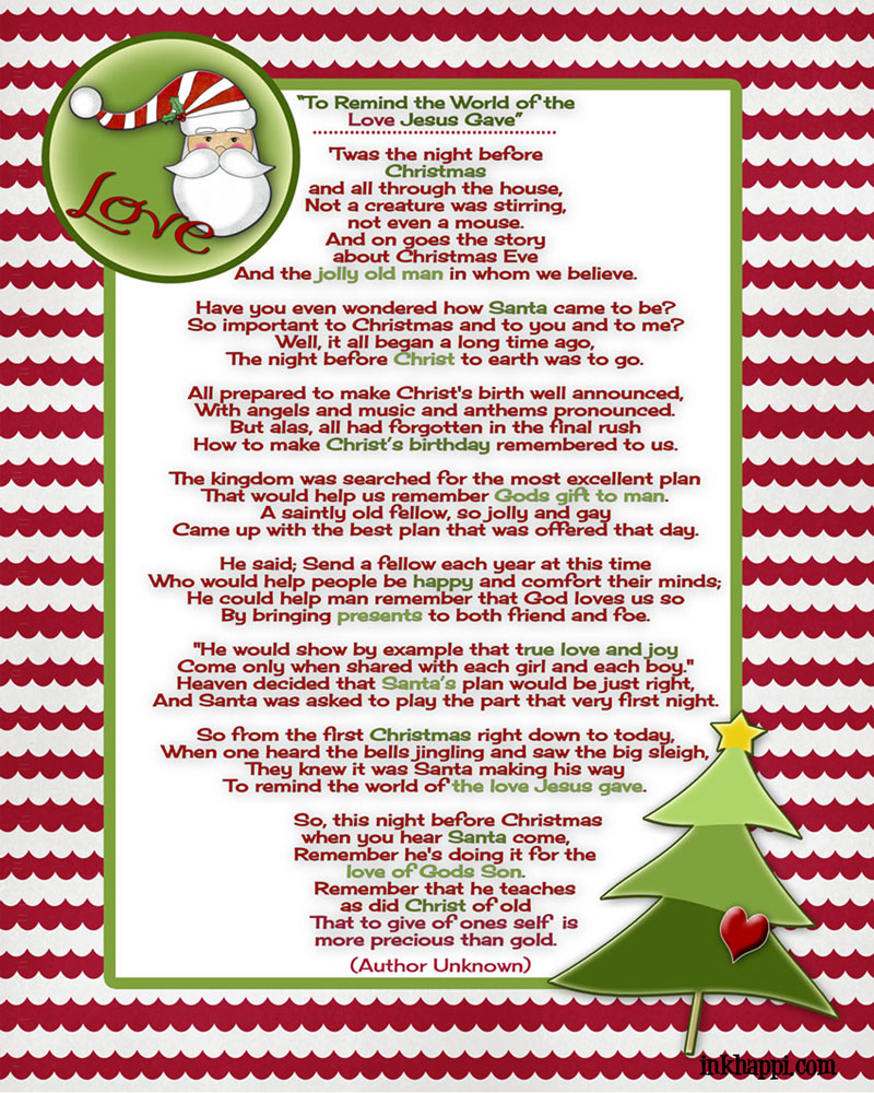 Meaning Of Christmas Symbols Poem